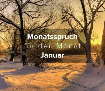 Monatsspruch für den Monat Januar 2017