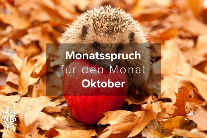 Monatsspruch für den Monat Oktober 2021